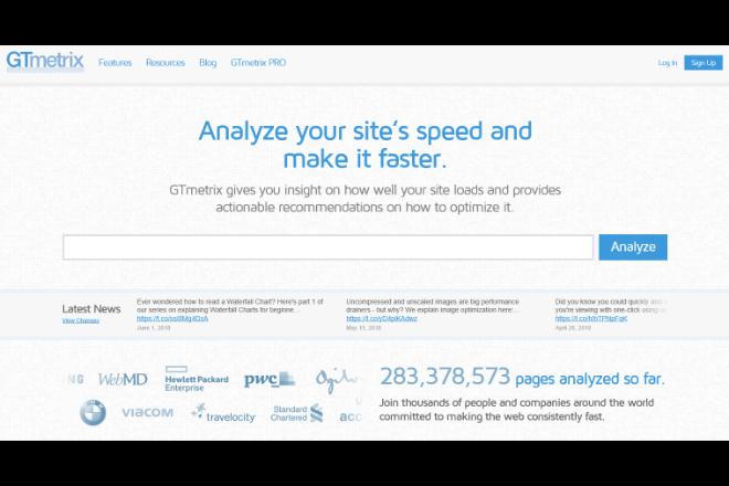 サイトの速度がチェックできる「GTmetrix」