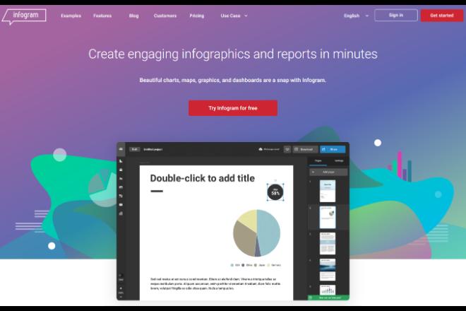 インフォグラフィックが作成できる「Infogram」