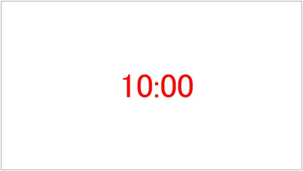 ZoomItでCtrl+3を押した後の時刻表示画面