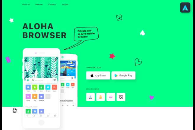 VPNで安全にブラウジングできる「Aloha Browser」
