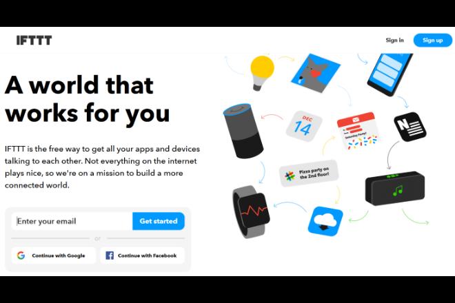複数のアプリを連携できる「IFTTT」