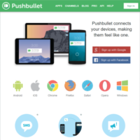 端末間ですばやく情報共有できる「Pushbullet」