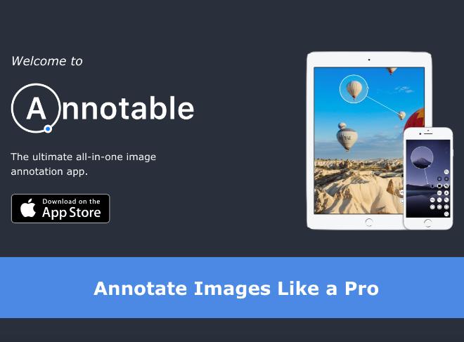 画像に注釈を入れることができる「Annotable」