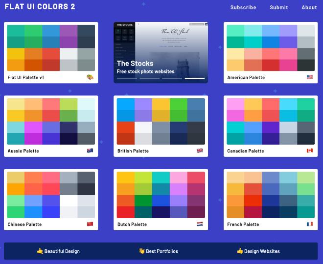 フラットデザインの配色がコピーできる「Flat UI Colors」