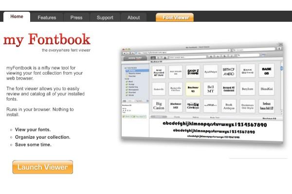 パソコンのフォント一覧を表示できる「myFontbook」