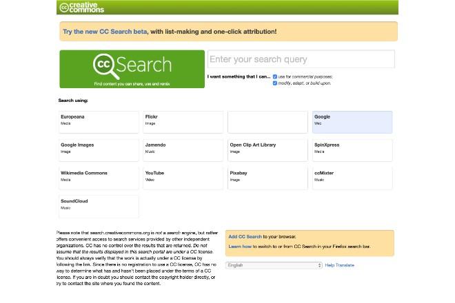 クリエイティブ・コモンズの画像が検索できる「CC Search」