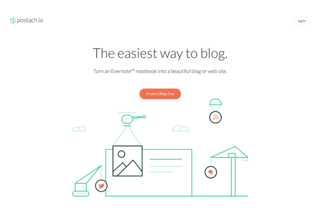 Evernoteをブログとして公開できる「Postach」